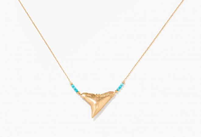 collie,or,requin,dent de requin,aurélie bidermann,shark,turquoises