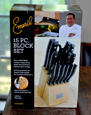 Emeril 15-Piece Stamped Cutlery Block from JCPenney - Photo by Taste As You Go