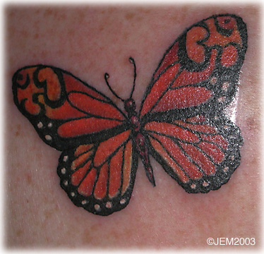 Monarch Butterfly On Flower Tattoo Monarch butterflies ta...