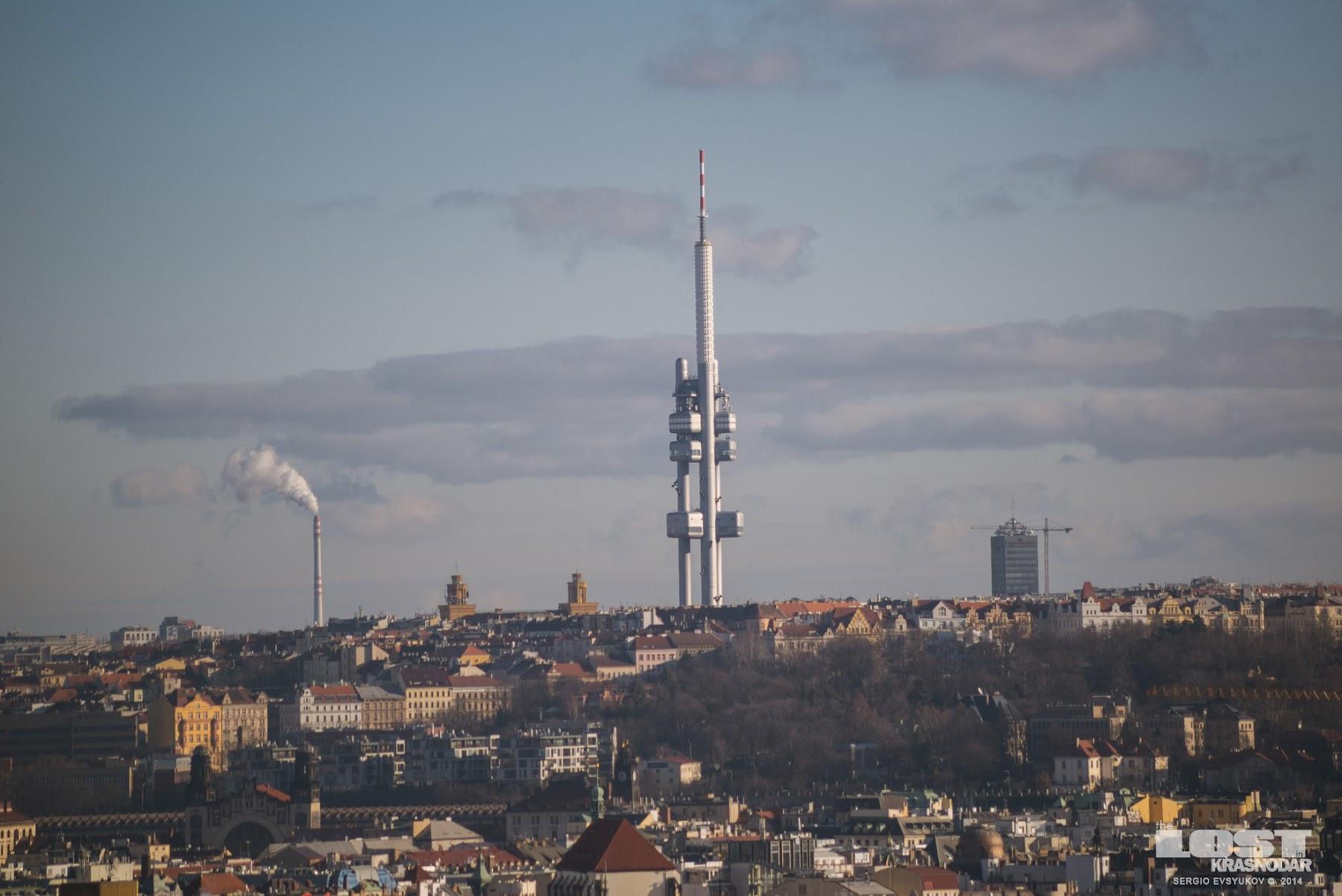 Жижковская башня в Праге