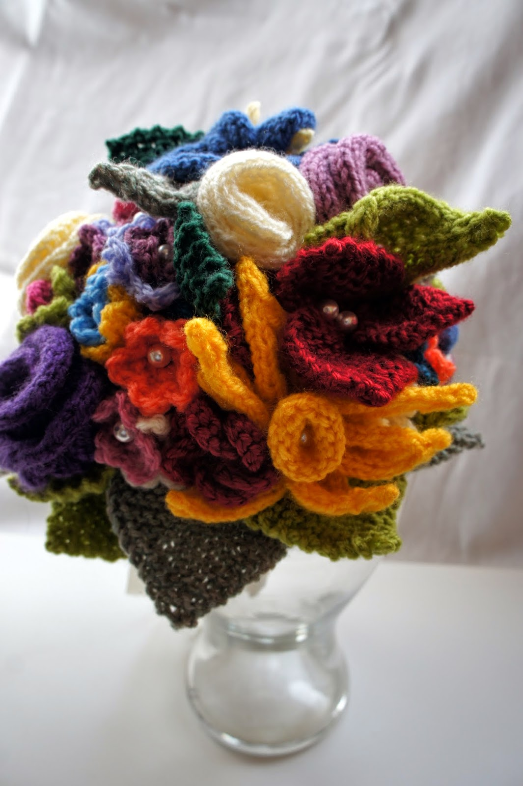 GRANNY\'S WORLD: Knitting - The bridal bouquet