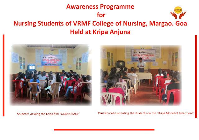 KRIPA FOUNDATION, INDIA: Awareness Programme for students at Kripa Goa