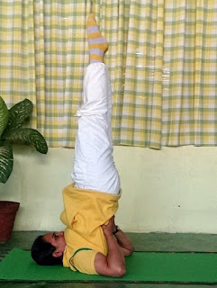 Sarvangasana Pose in Hatha Yoga