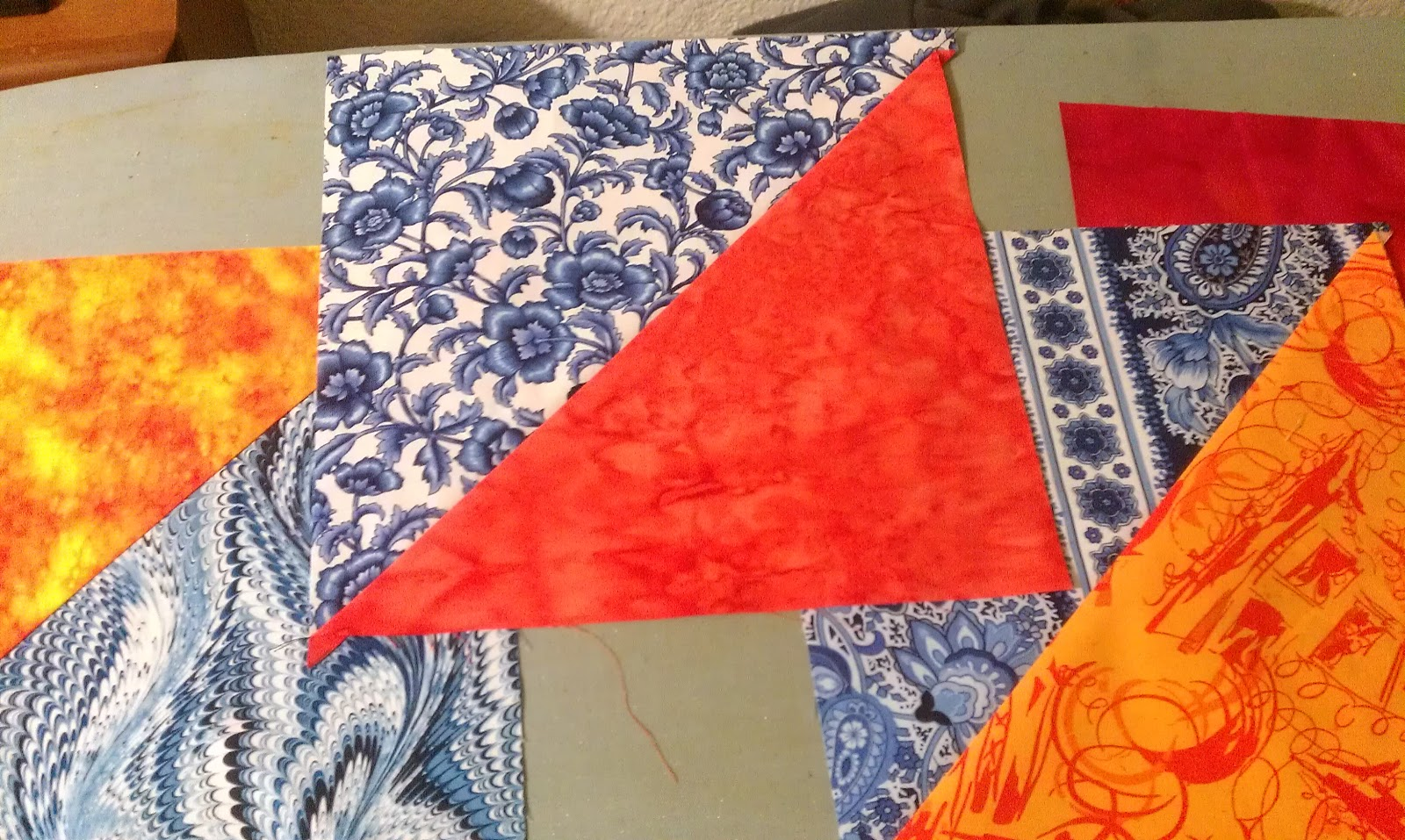 Lovely Frankenstein's Quilting Laboratory: A Color Theory Quilt ... : blue and orange quilt - Adamdwight.com
