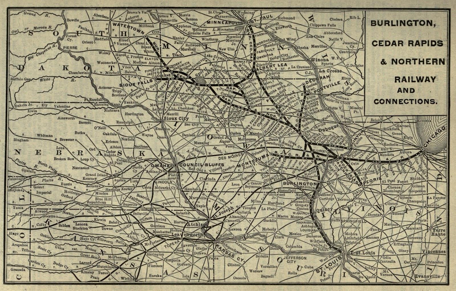 Burlington Cedar Rapids And Northern Railway
