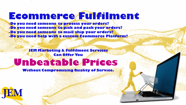 Image highlighting the ecommerce services that JEM provides.