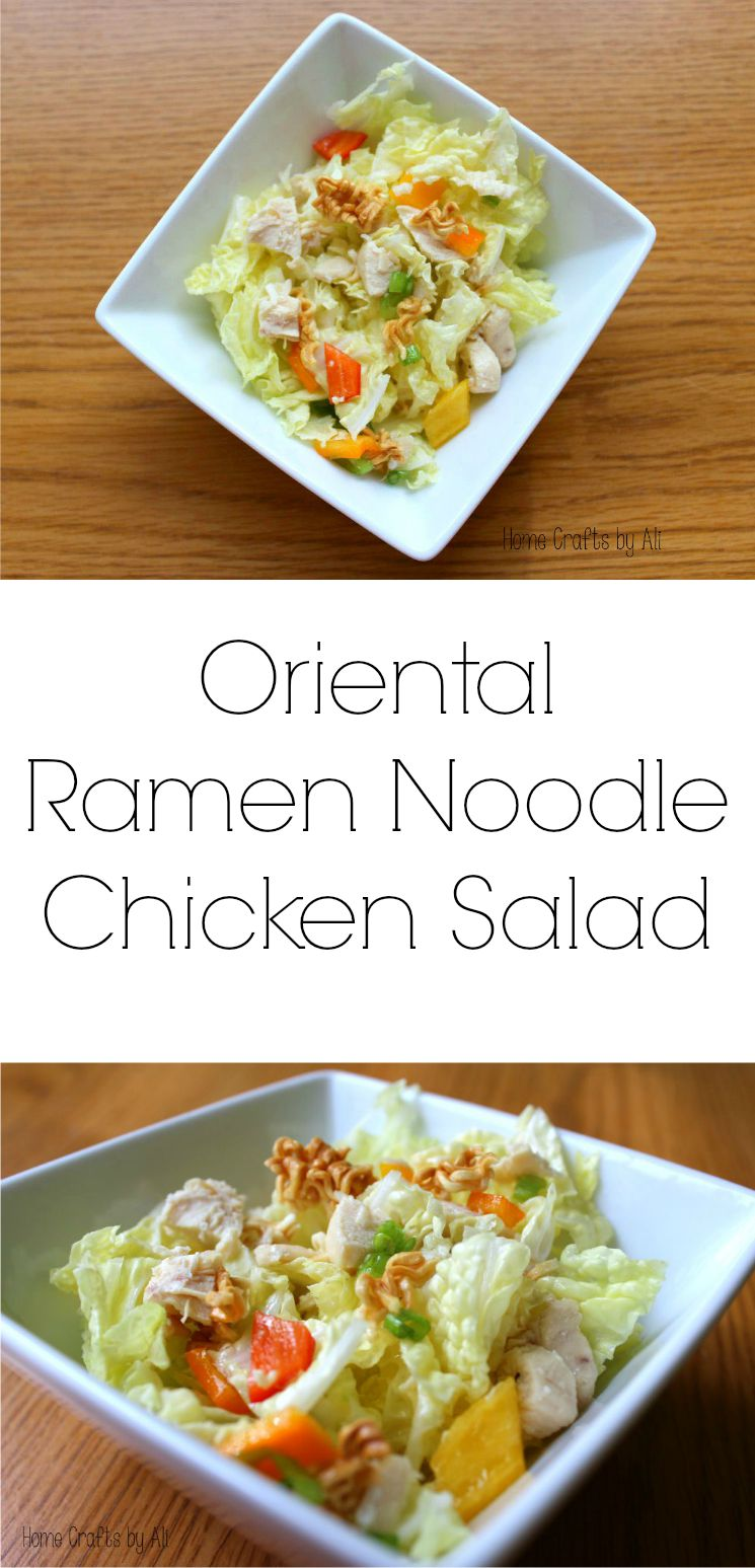 Asian Chicken Noodle Salad with Ginger-Peanut Dressing
