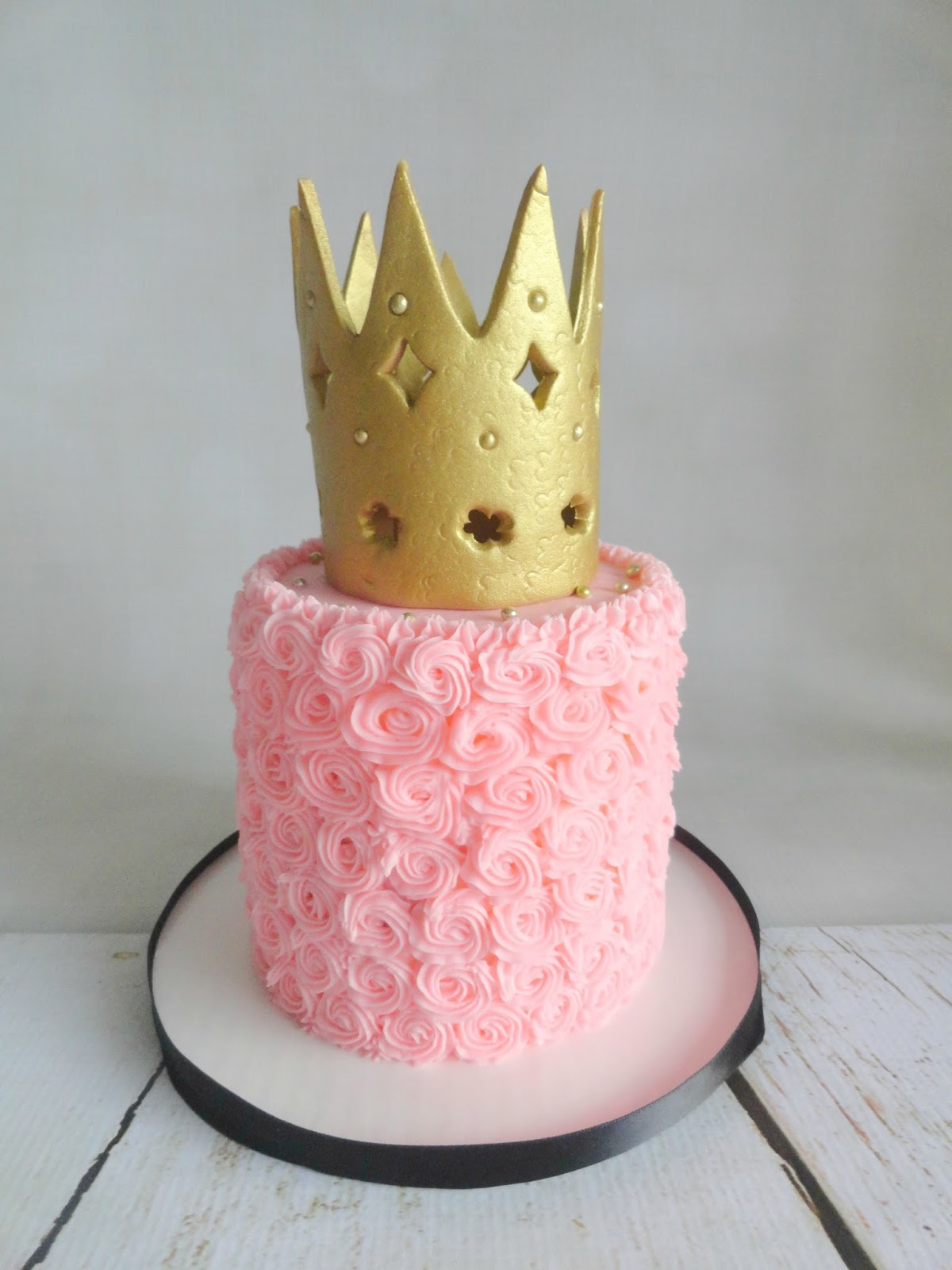 Princess Crown Pink Birthday Cakes