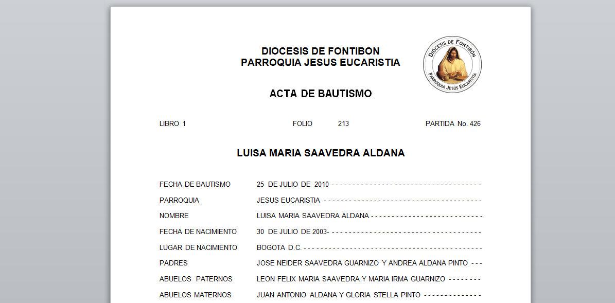 Partida De Matrimonio Catolico : Programa partidas y formatos parroquiales saap