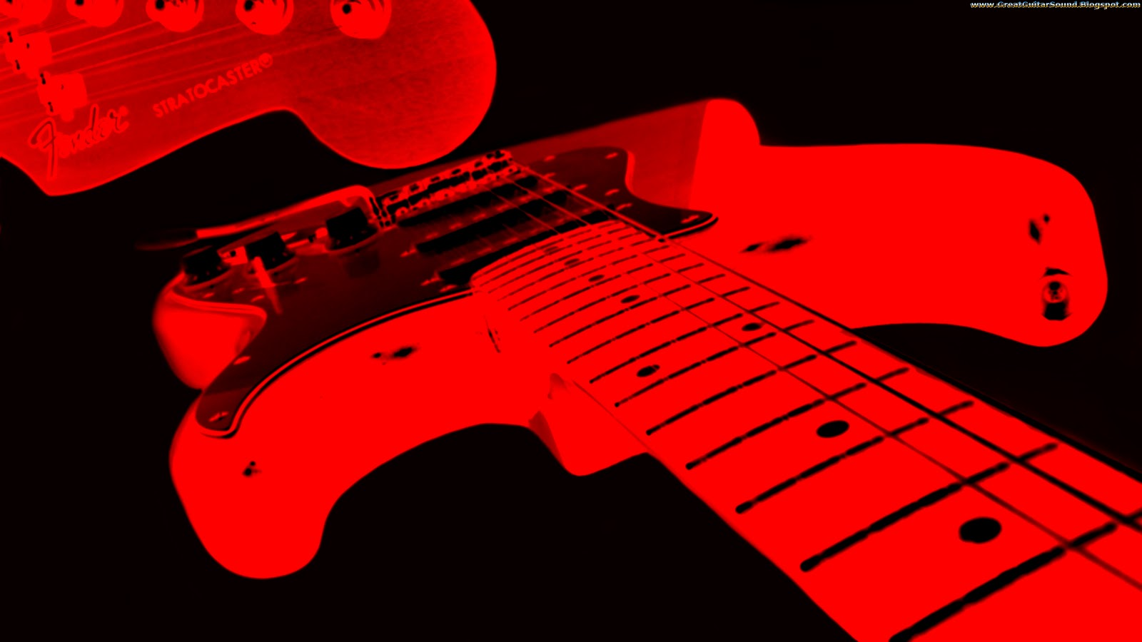 Red And Black Fender Stratocaster Electric Guitar Background HD Music Desktop Wallpaper 1920x1080 Great Sound GreatGuitarSound