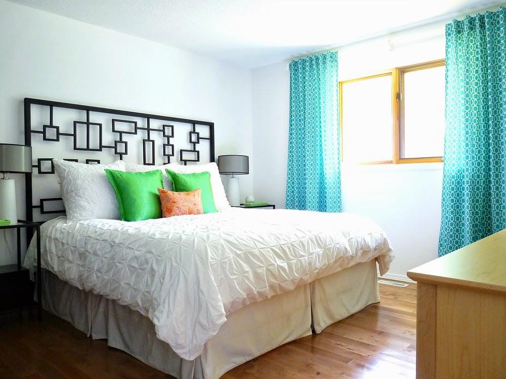 diy back tab curtain tutorial  dans le lakehouse, Bedroom decor