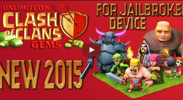 Video: Clash of Clans - !!NEW HACK!! (UNLIMITED GEMS) (2015) (FOR JAILBROKEN DEVICES)