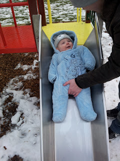 baby on the slide