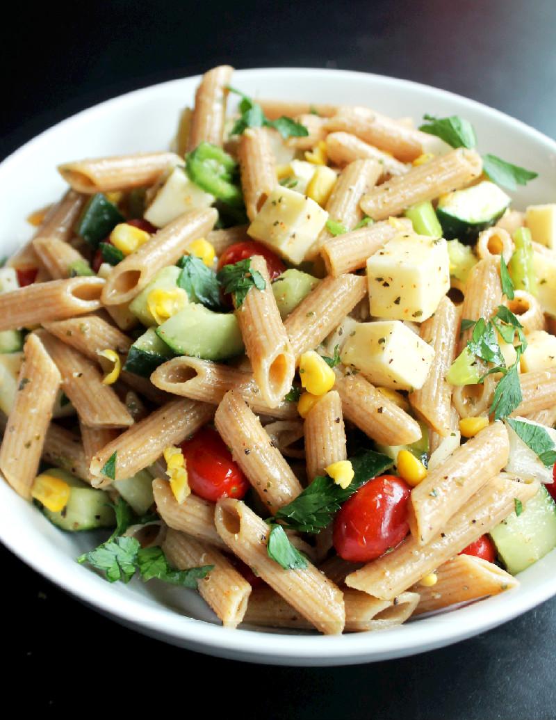 Veggie Italian Pasta Salad - Not Quite a Vegan