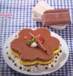 Resep Puding Coklat Bunga Choco Mangga