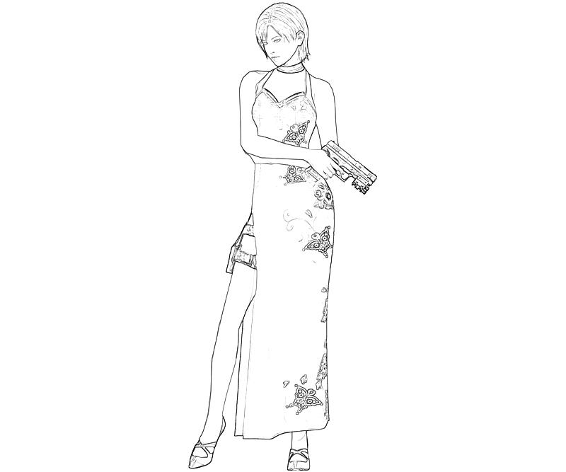 ada wong coloring pages - photo#4