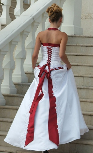 Wedding Dresses Color Red : And red wedding dresses white