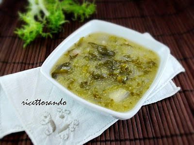 Zuppa semplice d'indivia ricetta minestre