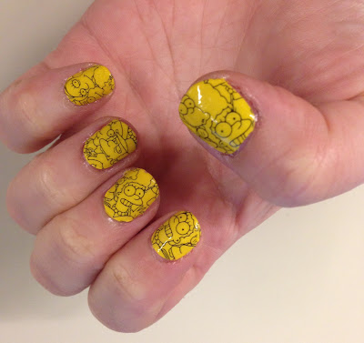 My 2014 in nails, #ManiMonday, Mani Monday, manicure, nails, nail polish, nail lacquer, nail varnish, M.A.C Cosmetics The Simpsons Nail Stickers