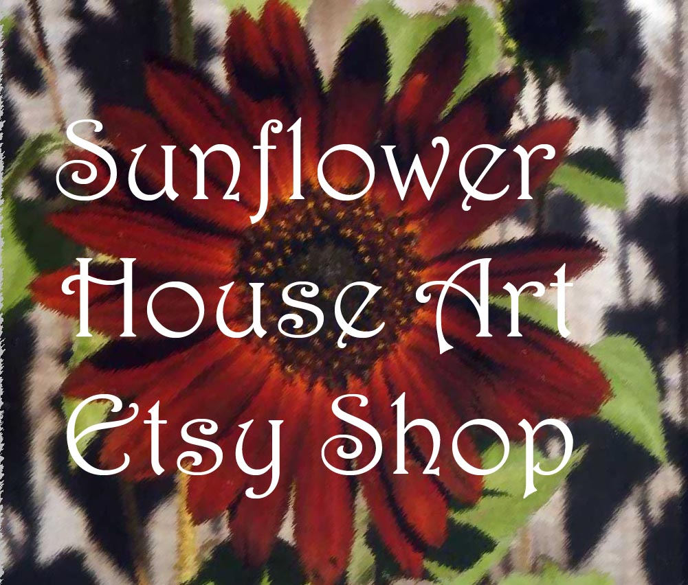 Sunflower House Art Etsy Shop