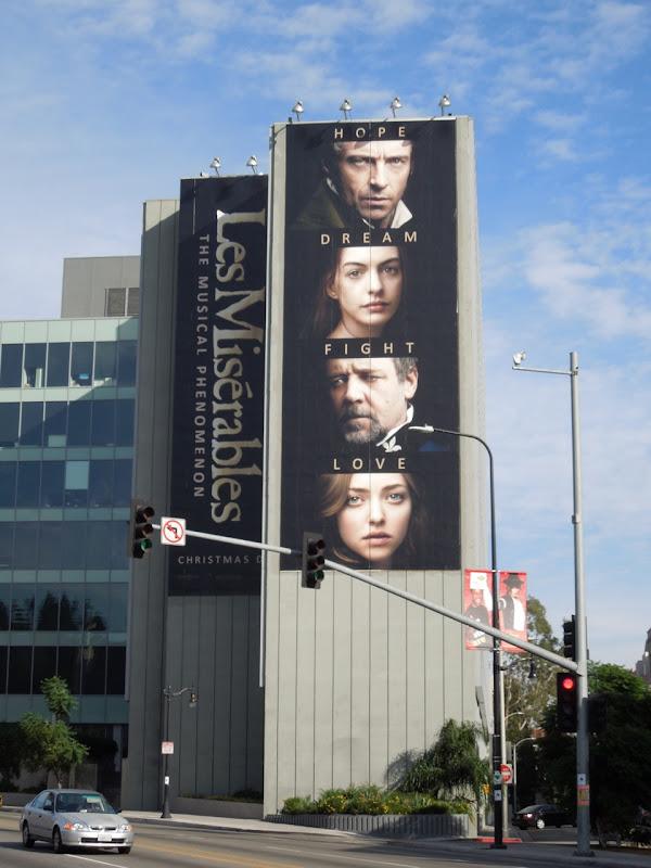 Giant Les Miserables movie billboard