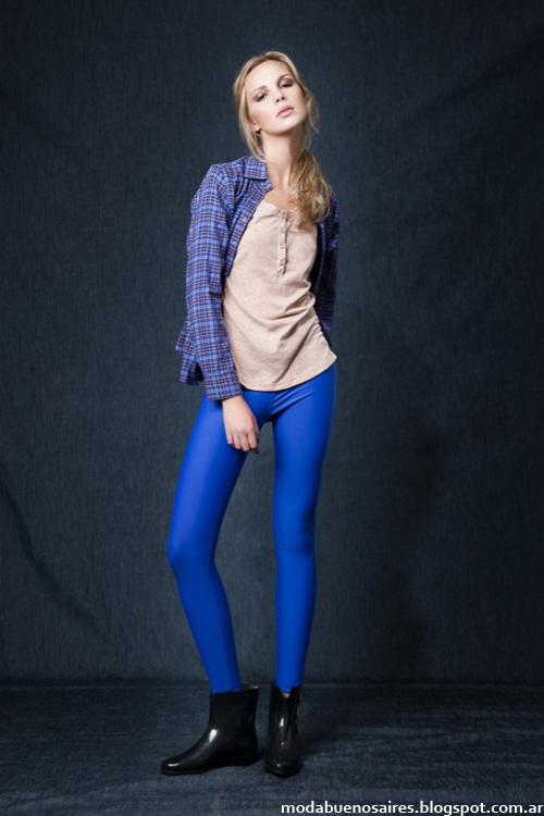 Wupper otoño invierno 2014 camisas de mujer a cuadros.