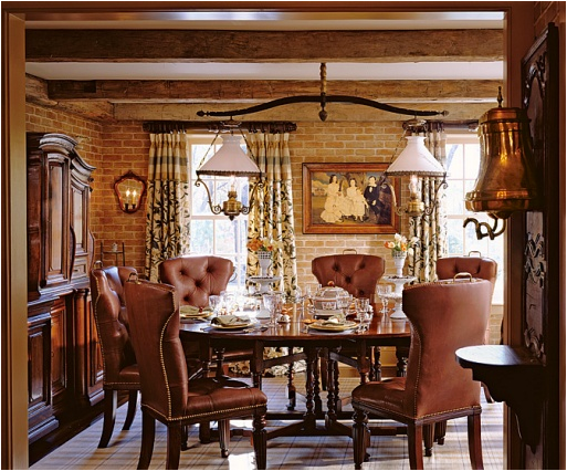 English country dining room design ideas room design ideas for Country dining room decor