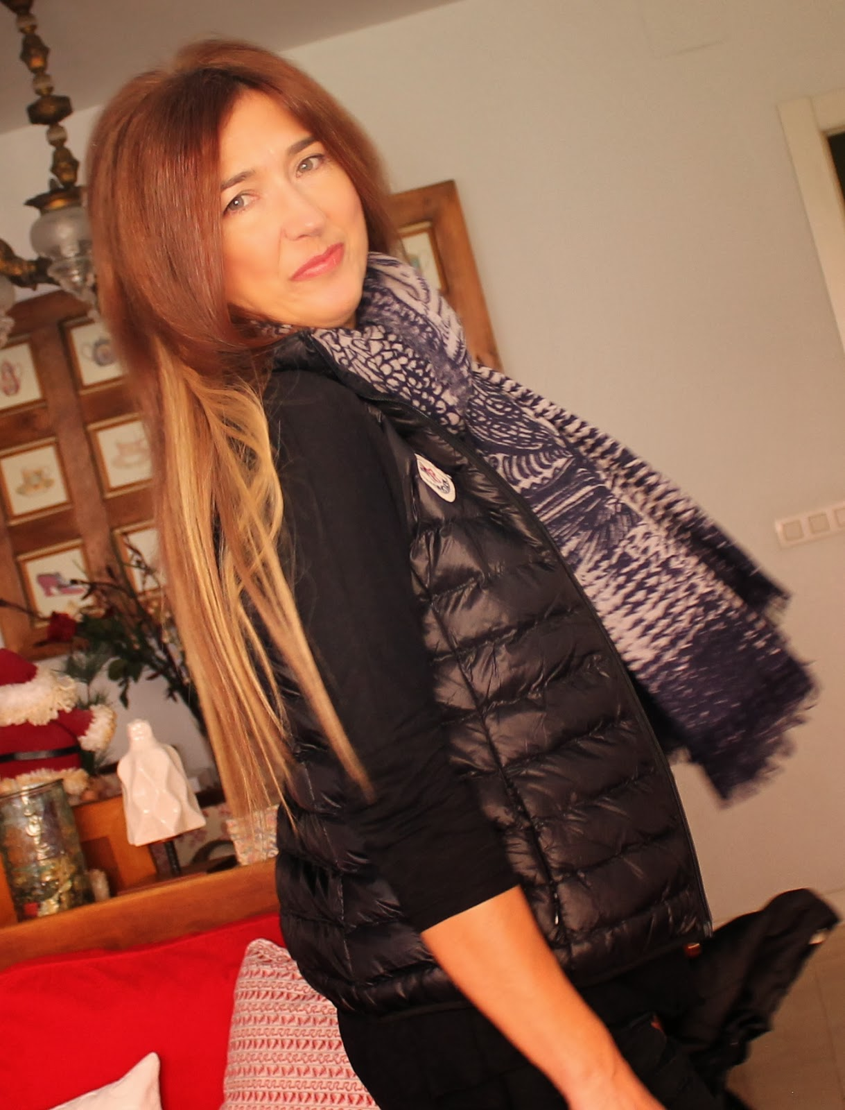 Look con chaleco Moncler