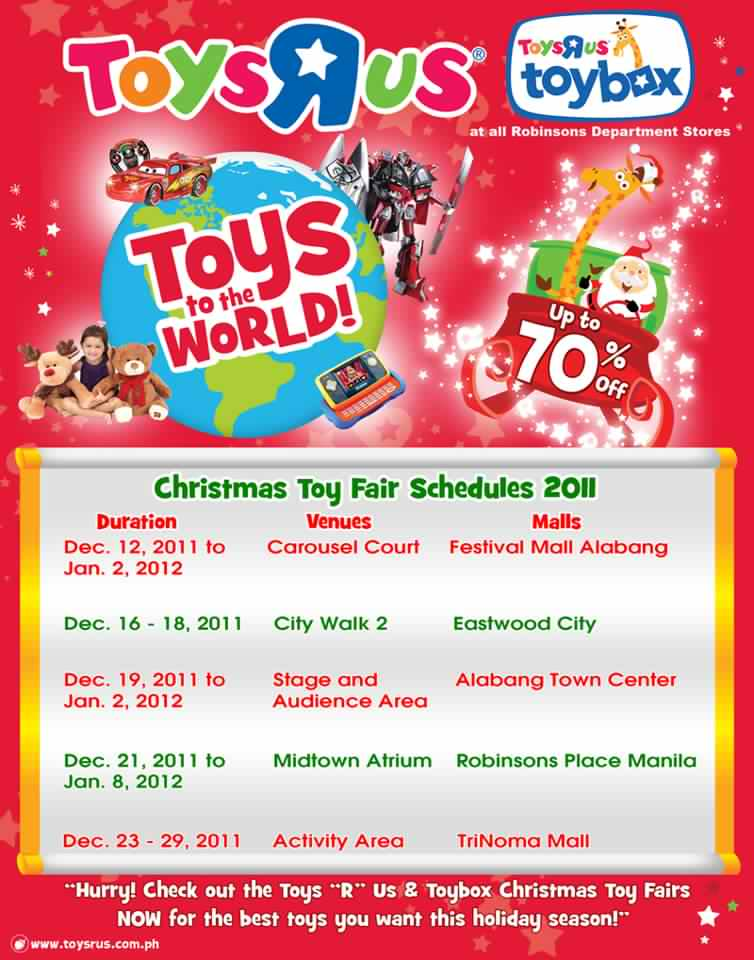 Toys R Us Christmas : Manila shopper toys r us christmas toy holiday fair sale