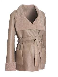 blossom sheepskin maternity coat