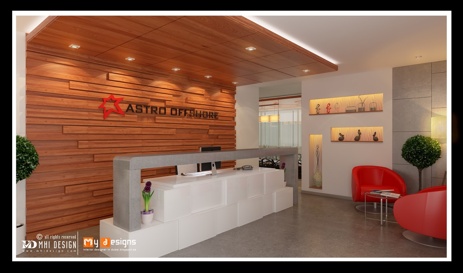 Office interior designs in dubai interior designer in for Bureau reception