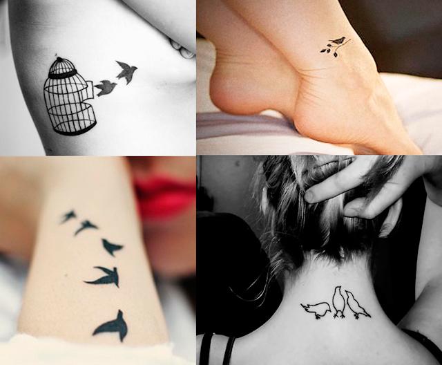 Inspiração, Tatuagens, femininas, delicadas, passarinho