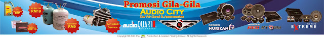 promosi gila-gila, audio city, audioquart, aq, car aircond, accessories, hurrican series, extreme series, red storm series