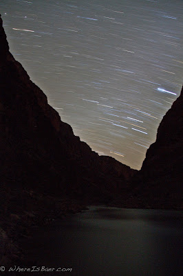 pretty cool what are eyes can't perceive, night time photo star streaking across sky, Grand Canyon of the Colorado river, Chris Baer