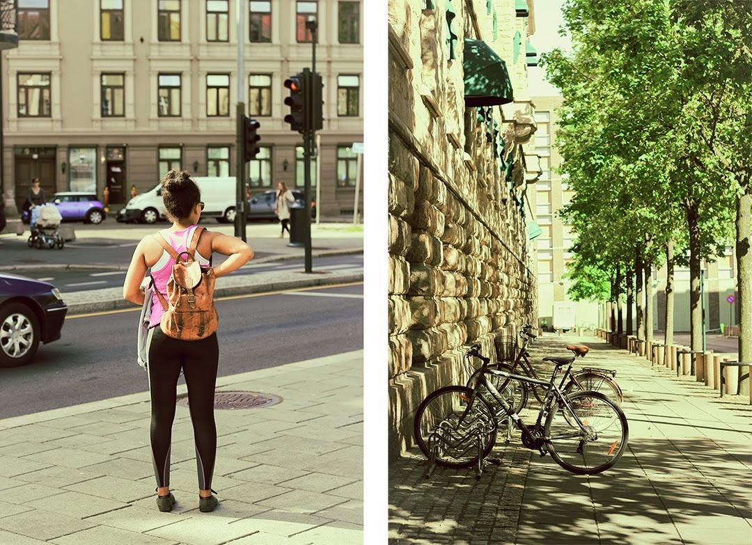Dziewczyna fit w Oslo, Norwegia
