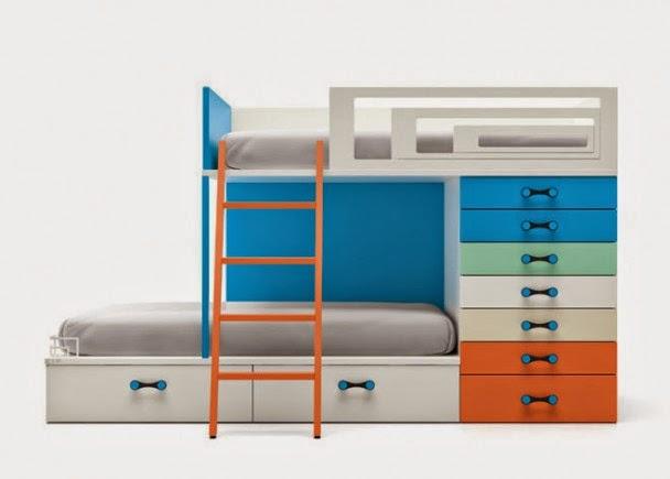 Camas triples amueblar un dormitorio para tres - Camas en tren ...