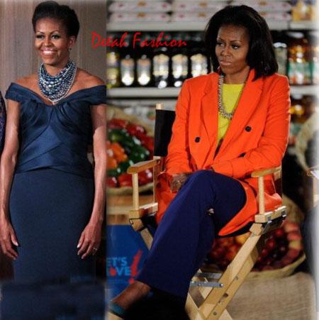 Gaya Busana Michelle Obama (Untuk Kulit Gelap)