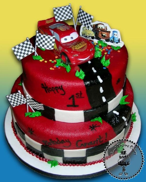 Birthday Cake Images For Little Boy : 52 Week Pinterest Challenge: Cars themed Cake