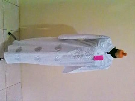Gamis silki bordir arabia khusus putih