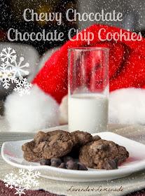 Santa's FAVORITE Christmas cookies - Chewy Chocolate Chocolate Chip!