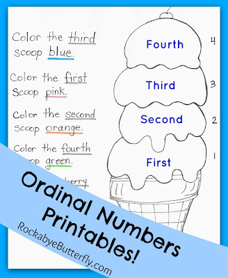 This pack has 7 pages of different ordinal number activities.