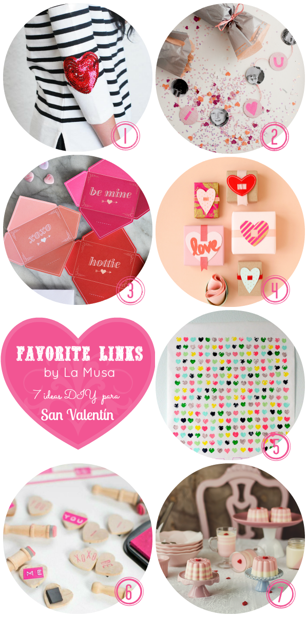 Favorite Links, San Valentín, DIY, La Musa, Valentine's Day, Love, Amor, Heart, Corazón, Gift, regalo, pink, rosa, red, rojo,