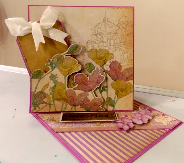 DCWV The Lavender Stack Card by  Clare Charvill
