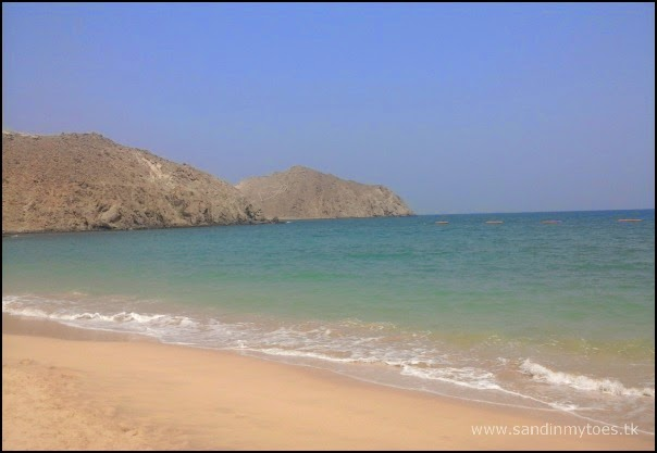 Private beach at Oceanic Khorfakkan