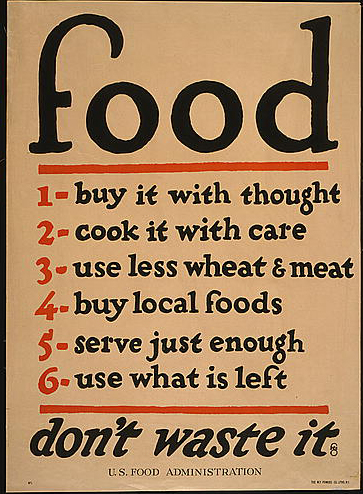 Food, Don't Waste It - Vintage US Food Administration War Poster