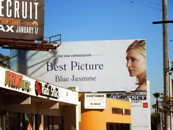 Blue Jasmine award consideration billboard