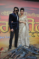 Deepika and Ranveer at the Ram Leela First Look launch-