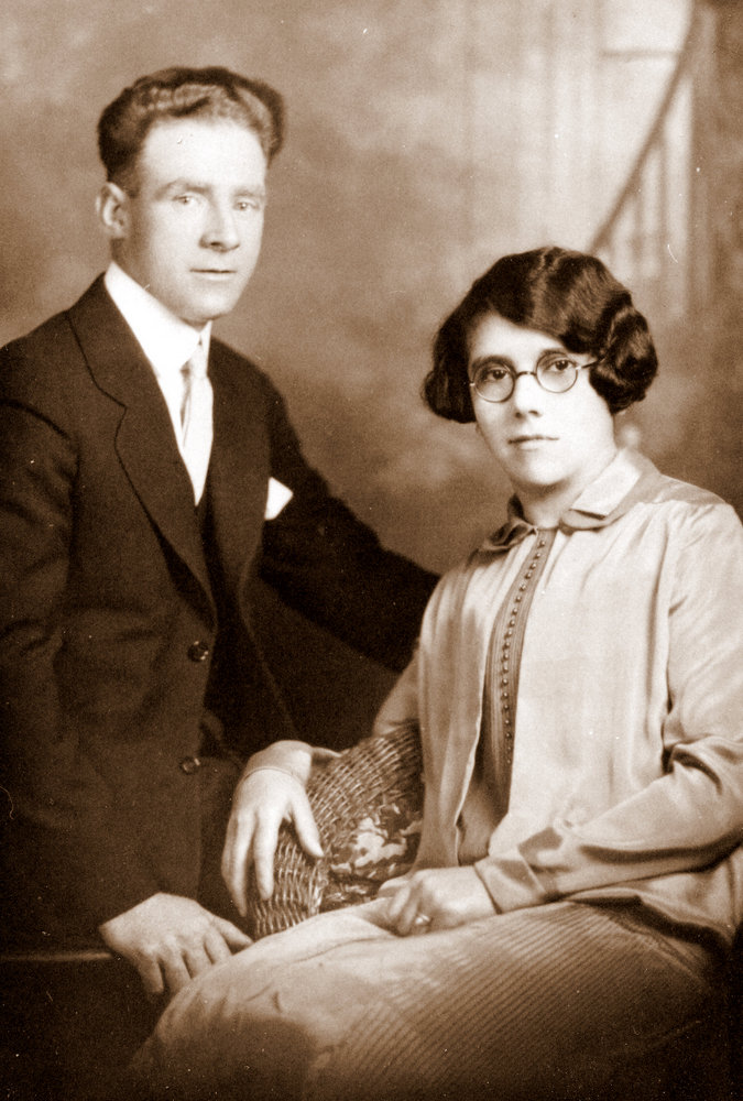 Fred and Julie Belair on their wedding day 1926