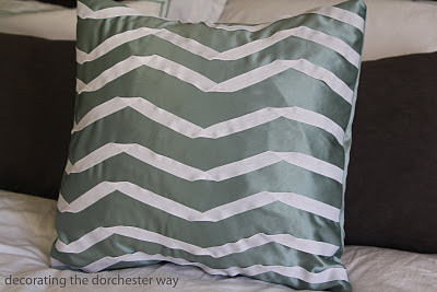 chevron ribbon pillow