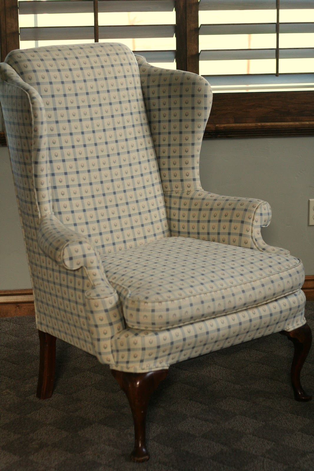 Custom Slipcovers By Shelley Gray Wingbacks With Damask Back